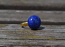 Lapis Lazuli pozlátený prsteň Ag 925