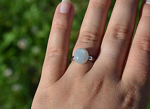 Prstene - Mesačný kameň prsteň Ag 925 - 9727145_