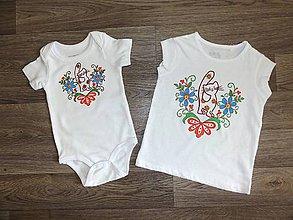 Detské oblečenie - Detské maľované tričko kocurik - 9726527_