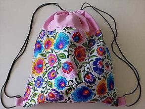 Batohy - Batoh L (folk+ružová) - 9726257_