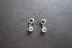 - Prívesky s kamienkami - stainless steel - (Priehľadná) - 9726612_