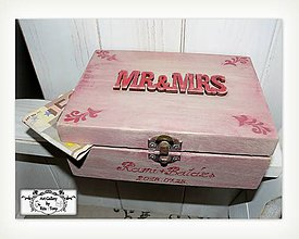 Krabičky - Svadobná krabica MR&MRS :) - 9727762_