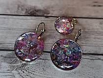 Sady šperkov - Ružový set náušnice a prstienok - 9727778_