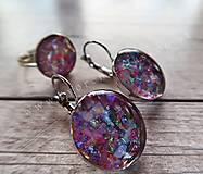 Sady šperkov - Ružový set náušnice a prstienok - 9727779_