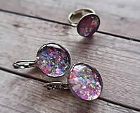 Sady šperkov - Ružový set náušnice a prstienok - 9727781_