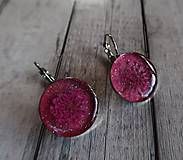Náušnice - Ružové náušničky s kvietkom - 9727947_