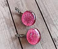 Náušnice - Ružové náušničky s kvietkom - 9727948_
