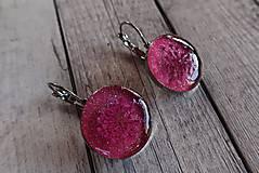 Náušnice - Ružové náušničky s kvietkom - 9727951_