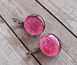 Náušnice - Ružové náušničky s kvietkom - 9727950_
