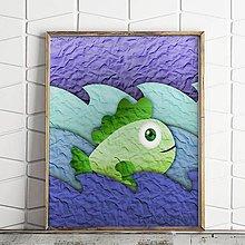 Grafika - Ako ryba vo vode na papieri (5) - 9726381_