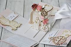 Papiernictvo - Svadobná krabička na peniaze - 9728764_