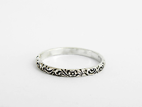 Prstene - 925 Strieborný prsteň florálny Jungle - 9728781_