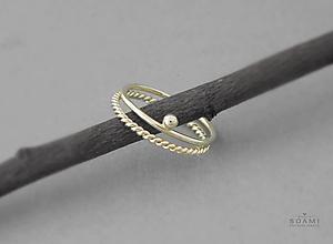 Prstene - 14k sada zlatých elegantných prsteňov - 9729230_