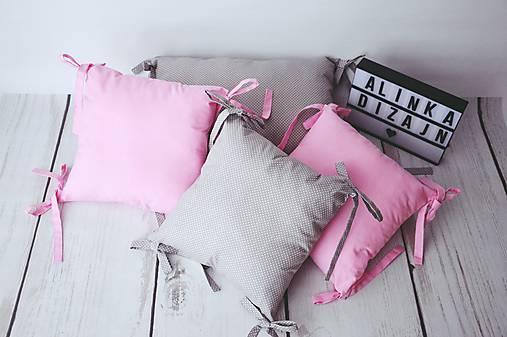 Vankúšikové mantinely ružové