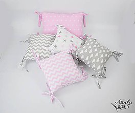 Textil - Vankúšikové mantinely ružové - 9729039_
