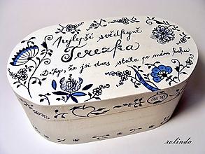 Krabičky - Malovaná šperkovnice - cibulák - 9729343_