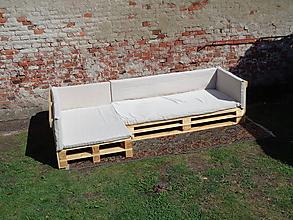 Nábytok - Paletový L-gauč
