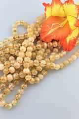 prírodný citrín korálky 8mm -