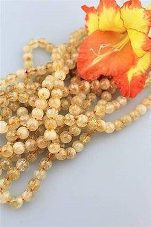 Minerály - prírodný citrín korálky 8mm -