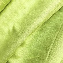 Textil - 100 % ľan pistáciový, šírka 140 cm - 9728973_