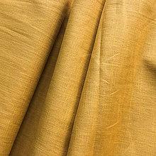 Textil - 100 % ľan okrový, šírka 140 cm - 9729585_