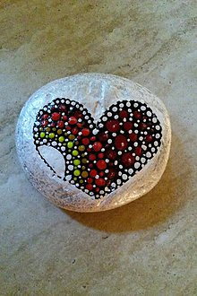 Dekorácie - Kameň - srdce - 9731262_