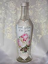 Nádoby - Ozdobná fľaša K 10. výročiu sobáša - 9731391_