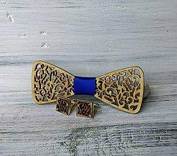 "Doplnky - Sada drevený motýlik ""Láska"" (Modrá) - 9730955_"