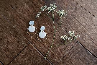 Náušnice - Polymérové náušnice | Gentle circles - 9731070_