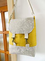Veľké tašky - Režno-horčicová karabínková taška - 9729861_
