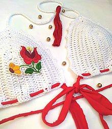 Bielizeň/Plavky - háčkované plavky FOLK - 9728946_