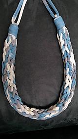 Náhrdelníky - Pletený náhrdelník - 9730836_