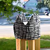 Detské čiapky - Čiernobiela korunka - 9730111_