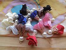 Komponenty - Textilné kvety- tanečnice - pár - 9730258_