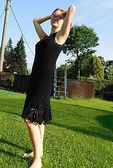 Šaty - letní šaty - černé - 9729807_