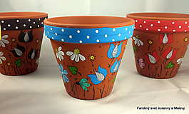 kvetináč Rozkvitnutý (Modrá)