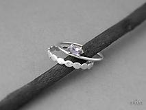 Prstene - Sada strieborných prsteňov s ametystom, striebro 925 - 9732720_