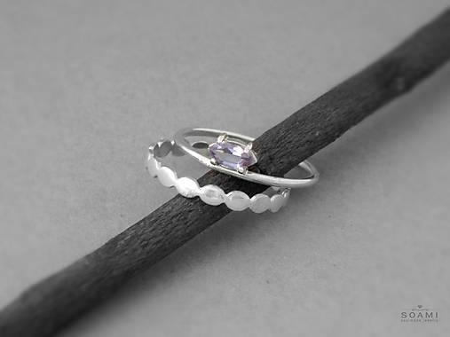 11e3f6b14 Sada strieborných prsteňov s ametystom, striebro 925 / soamijewelry ...