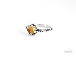 Prstene - CERTIFIKÁT 925 Strieborný prsteň s prírodným citrínom - 9732707_