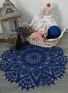 Úžitkový textil - Háčkovaná dečka-kráľovská modrá - 9731625_