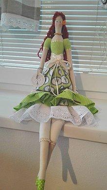 Bábiky - Levandulová bábika v zelenom - 9733663_