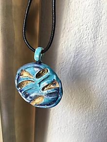 Náhrdelníky - rastlinný motív /keramika/ - 9733931_