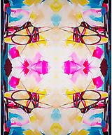 Textil - Látka Ballet shoes - potlač z originál maľby - 9732166_