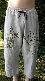 Nohavice - Pánske kraťase ľanové - 9731846_