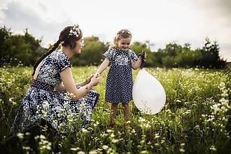 Detské oblečenie - Detské šaty z modrotlače - 9733760_