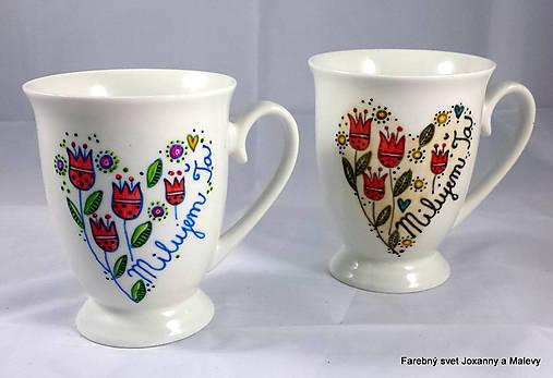 f165ca5d3086 Porcelánový hrnček Milujem Ťa s tulipánmi2 (Modrá)   Maleva - SAShE ...