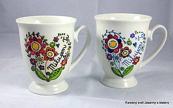 Nádoby - porcelánový hrnček Milujem Ťa - 9733856_
