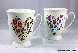 Nádoby - porcelánový hrnček Milujem Ťa s tulipánmi2 - 9733883_