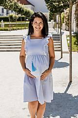 Tehotenské oblečenie - Šaty FORGET-ME-NOT Stripes1 - 9734117_