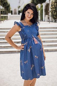 Tehotenské oblečenie - Šaty FORGET-ME-NOT Dragonfly - 9734146_